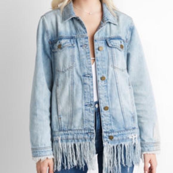 top fashion shop how to buy Blank NYC Jackets & Coats | Fringe Denim Jacket | Poshmark